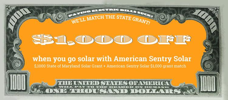 Solar grant match special