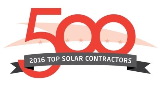 American Sentry Solar 2016 Top 500 Solar Contractor